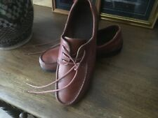 Men's Clarks Brown Leather Lace Up Shoes Size 8