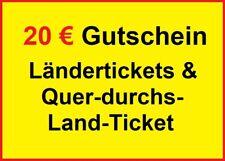 ✅ 20 € Gutschein eCoupon Ländertickets DB Deutsche Bahn ✅ BLITZVERSAND < 30min ✅