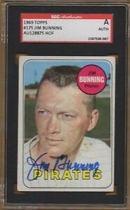 d2017 HOF 1969 PITTSBURGH PIRATES signed JIM BUNNING #175 topps - AUTHENTICATED