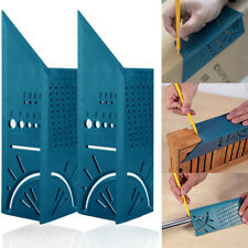 3D 45° 90° Angle Woodworking Ruler Mitre Angle Measuring Gauge Size Measure Tool