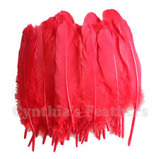 Turkey Feathers, Red Turkey Round Quill Feathers 6-8 inches 50 pcs