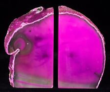 7.5Lbs Agate Bookends Geode Crystal Polished Brazil Specimen