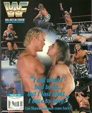 WWF MAGAZINE FEBRUARY 1997 PSYCHO SID, SHAWN MICHAELS