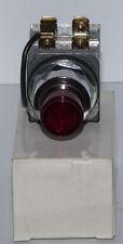 Furnas 52PA6G2A 120V AC 1NO-1NC Red Lens Oil Tight Push to Test Pilot Light