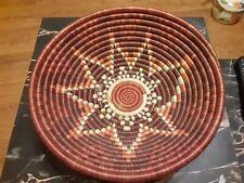 Handmade 11.5 Basket Bowl Wall Hanging Woven Southwestern Sun Star Native Tribal
