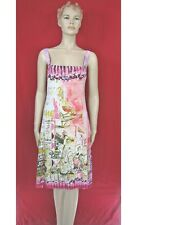 NWT Save The Queen Romantic Pink Stretch Dress Size XXL Made in Italy