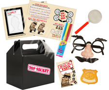 Pre Filled Top Secret Party Box - Spy Detective Agent Parties Activity Gift Bags