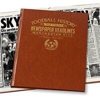 Manchester City Football History Newspaper Headlines Gift Book For Men Him Idea