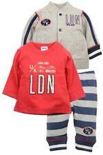 Dirkje 3tlg College Sweatjacke Shirt Jogginghose Baby Jungen Grau Gr. 62 NeU