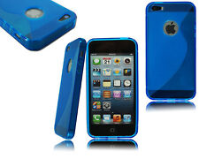 APPLE IPHONE 4S 5S 6 6S 6 PLUS MODELOS FUNDA GEL DE SILICONA+PROTECTOR PANTALLA