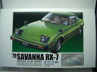NEW ARII 1979 MAZDA SAVANNA RX7 1/24 Scale PLASTIC MODEL KIT OWNERS CLUB SERIES