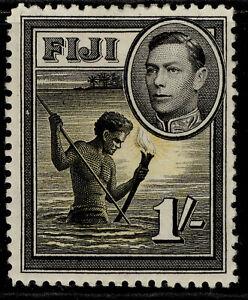 FIJI GVI SG262, 1s black & yellow, M MINT.