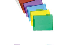 New listing Staples Translucent Poly File Folders, Assorted, 6/Pack