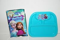 Disney Frozen Plastic Section Plate BPA FREE & Play Pack Grab & Go Coloring New