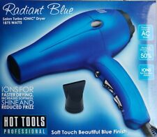 New HOT TOOLS Turbo Ionic 1875 Watts Radiant Blue Hair Dryer #HT7012D