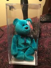 "Beanie Baby "" Teddy-NF Teal"" 2nd/1st (MWMT's-MQ) Authenticated !!"