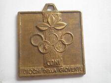 Coni Giochi Della Gioventù Italy medal Olympic Games Grassobbio 1980,cones youth