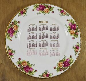 Royal Albert Old Country Roses 'Signed' 2000 Millennium Plate