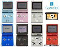 GameBoy Advance SP / GBA SP Konsole (Farbe nach Wahl) + GRATIS Spiel + Kabel