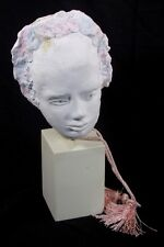 """Jackie Kehoe Keho Clay Sculpture Bust Head Young Girl """"AS-IS"""" 0011010"""