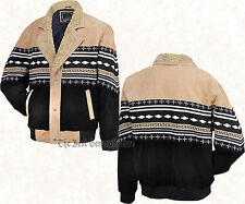 Casual-Outfitters-Western-Style-Solid-Genuine-Suede-Leather-Jacket in Lg Size