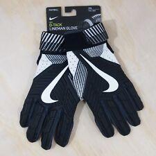 Nike D‑Tack Padded Lineman Football Gloves Size XXL Black Men's