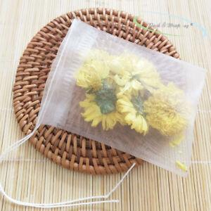 reusable Drawstring Nylon Tea Bag loose leaves teabag herb infuser herbal filter