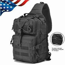 Tactical Sling Bag Military Molle Backpack Assault Pack Messenger Shoulder Bag