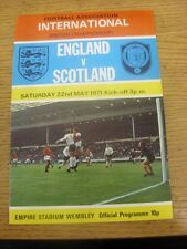 22/05/1971 England v Scotland [At Wembley] (Folded). Any faults are noted in bra
