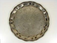 Ancien Grand Plat en Etain XVIII°, traces de poinçon à déchiffrer