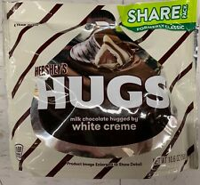 NEW HERSHEY'S HUGS MILK CHOCOLATE HUGGED BY WHITE CREME SHARE PACK 10.6 OZ BAG