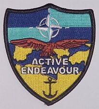 Marine Bundeswehr Aufnäher Patch ACTIVE ENDEAVOUR ...........A2837