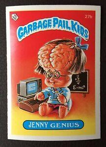 Jenny Genius 27b UK Garbage Pail Kids Series 1(1985)Topps~NMT/MINT~Pack Fresh