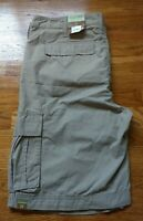 NWT SONOMA LIFESTYLE Size 38×11 Lightweight Cargo Shorts Khaki Tan Cotton Blend