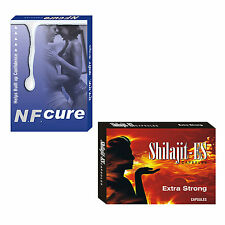 Natural Supplements For Nightfall Problem 30 NF Cure Caps + 30 Shilajit ES Caps