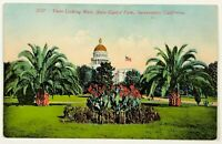 View Looking West State Capitol Park Sacramento California Postcard 1900's 1910s