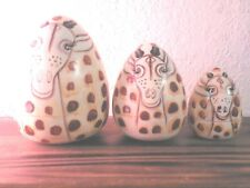 Giraffe Russian Nesting Egg Dolls Wood Hand Painted 3 pcs