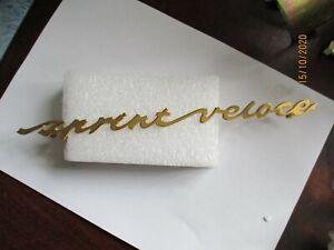 Alfa Romeo Giulia Sprint Veloce Gold Plated Lettering Nameplate Logo