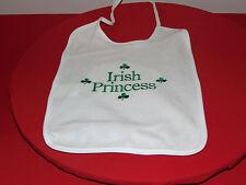 IRISH PRINCESS GIRL'S BABY BIB NEW