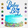Baby Boy Gender Reveal Glitter Cake Topper Boy or Girl Baby Shower He or She