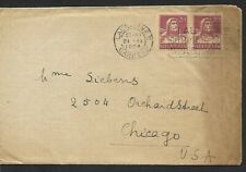SWITZERLAND 1924 COVER TO CHICAGO WITH LETTER & FADED PHOTO #56