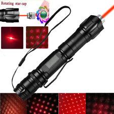 900Miles Red Laser Pointer Pen 650nm Star Beam Light 18650 Astronomy Lazer Torch