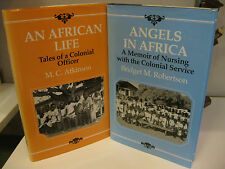 AN AFRICAN LIFE Atkinson - ANGELS IN AFRICA Robertson Radcliffe Nigeria Lot of 2