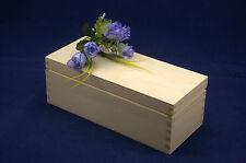 Llanura de madera caja de almacenamiento perfecta para Decoupage y otras embarcaciones (9,5 x22.5 x8)