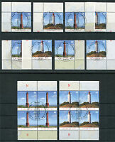 Bund 2742 - 2743 Eckrand oder Viererblock gestempelt Vollstempel Leuchttürme