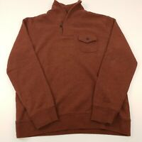 Levi's Mens Sweater LARGE Red Cotton Pullover Jumper Knit Collared