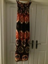 Strapless ladies multi coloured maxi dress one size