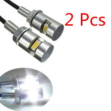2PCS Motorcycle Lamp Light License SMD Bolt Universal Car LED Plate Stud Screw