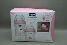 NIB - Pink Girl Chicco Stage 1  Gift Set Blue Feeding Set 0M+  Baby Bottle