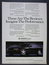 1994 Toyota Supra black car photo Review Quotes vintage print Ad